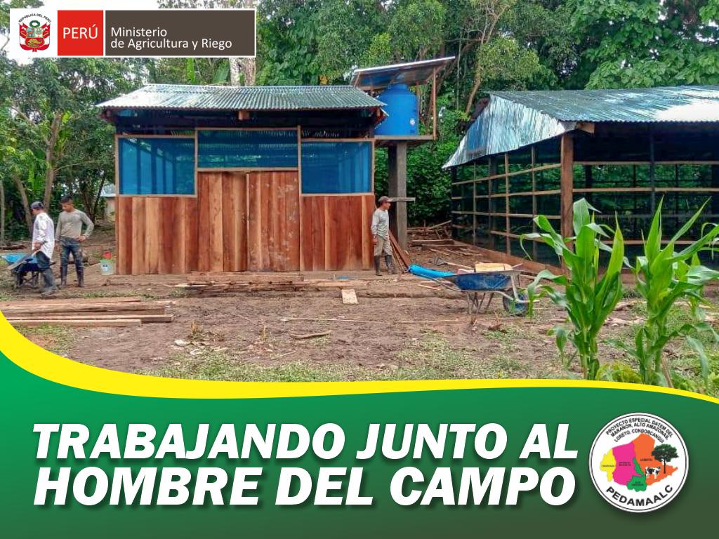 GALPÓN CONCLUIDO EN LA COMUNIDAD SAN JOSÉ DE PARINARI LORETO - NAUTA