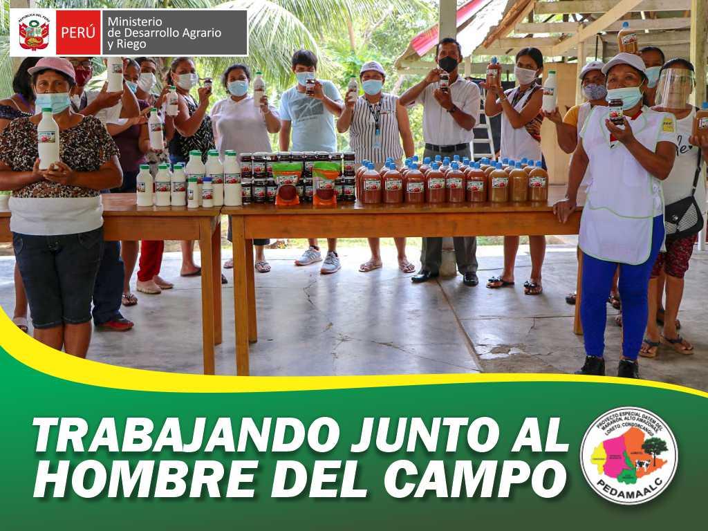 PEDAMAALC CAPACITO EN TRANSFORMACIÓN Y DERIVADOS DEL CAMU CAMU A PRODUCTORES DEL APCSAGAA.