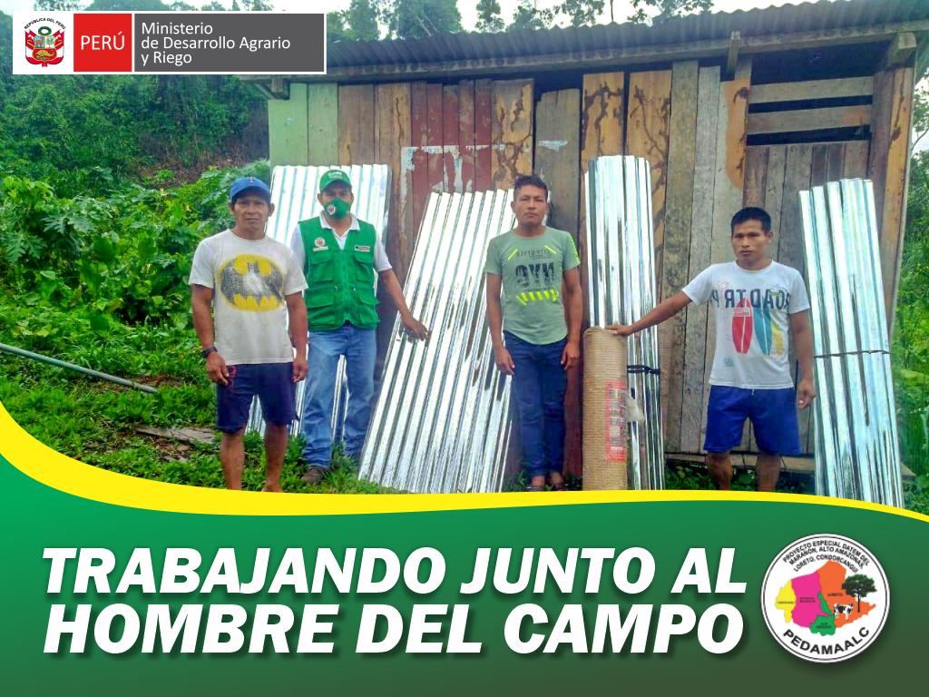 PROYECTO GALLINAS MEJORADAS EN CONDORCANQUI AMAZONAS DIO INICIO LA ENTREGA DE MATERIALES PARA CONSTRUCCIÓN DE 1000 GALLINEROS